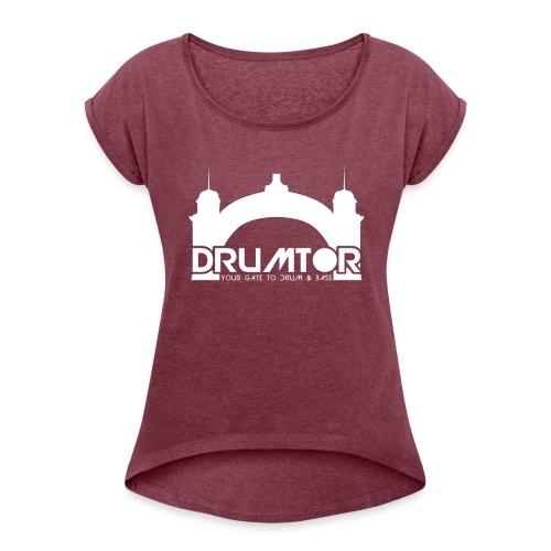 Drumtor Girlie Shirt mit gerollten Ärmeln - Frauen T-Shirt mit gerollten Ärmeln