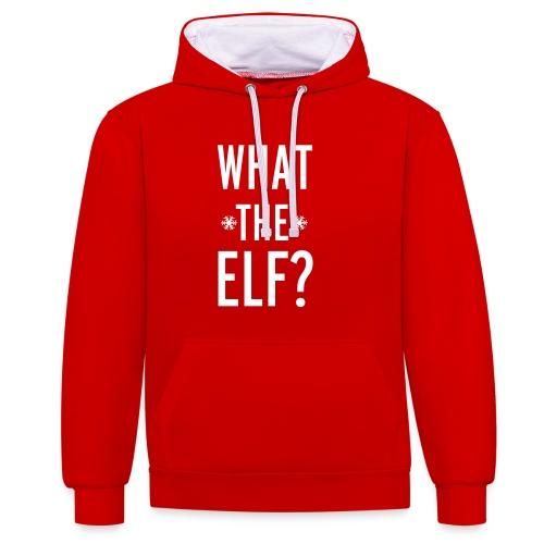 What the Elf? - Kontrast-Hoodie