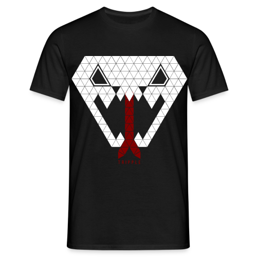 Tripple Triangle Snake - Mannen T-shirt