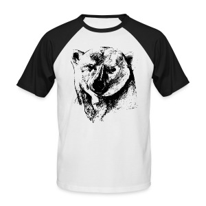 T-Shirt Homme Ours Polaire - T-shirt baseball manches courtes Homme