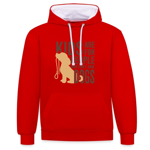 Kids are for people - Contrast Colour Hoodie