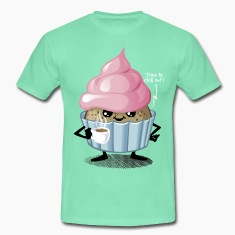 Donker munt Cup and Cake T-shirts