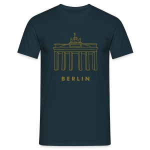 Brandenburg Gate in Berlin (gold) - Men's T-Shirt