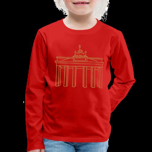 Berlin, Brandenburger Tor  (gold) - Kinder Premium Langarmshirt