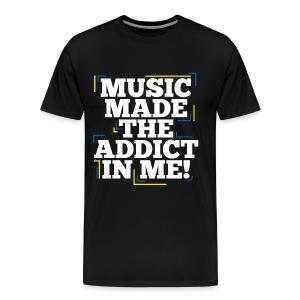 TF-Global   Music Made Addict - Men's Premium T-Shirt
