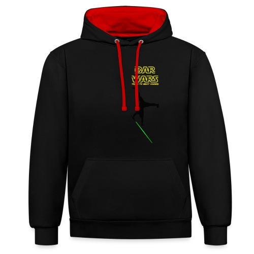 Hoodie Bar Wars - Train to beat Vader - Kontrast-Hoodie