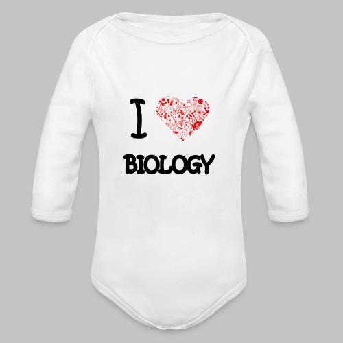 Body bébé (baby) I love biology - Organic Longsleeve Baby Bodysuit