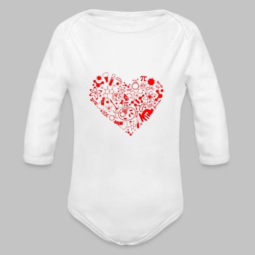 Body bébé (baby) Science Heart - Organic Longsleeve Baby Bodysuit