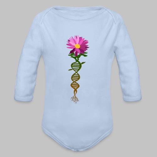 Body bébé (baby) DNA flower - Organic Longsleeve Baby Bodysuit