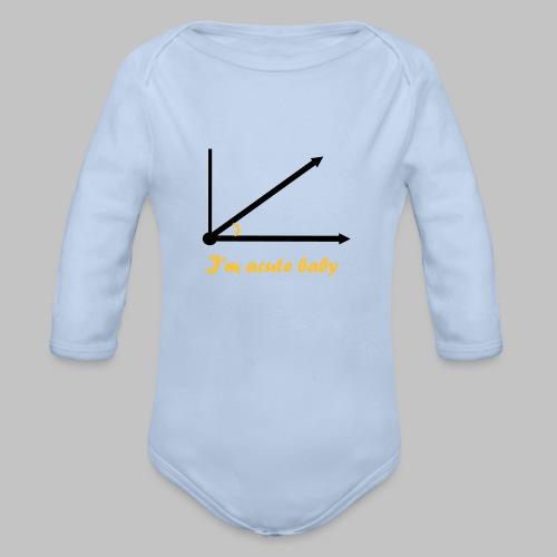 Body bébé (baby) You are a cute baby - Organic Longsleeve Baby Bodysuit