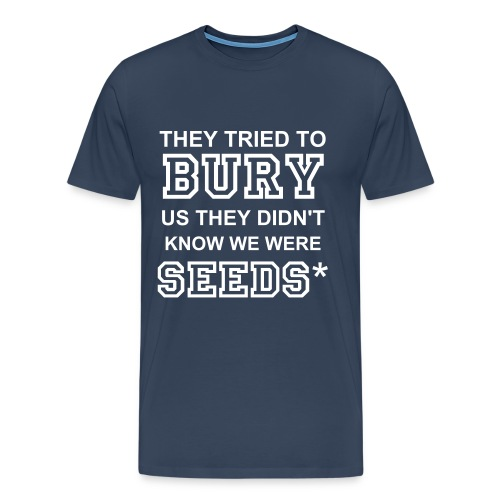 SEEDSTARS* BLUE BURY SEEDS MALE - Men's Premium T-Shirt
