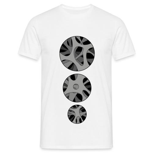 Men's T-Shirt with 3 x Round hollow art design - Herre-T-shirt