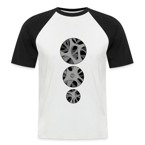 with 3 x Round hollow art design - Kortærmet herre-baseballshirt