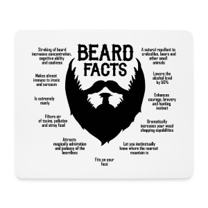 Beard Facts (black) - Mousepad (Querformat)