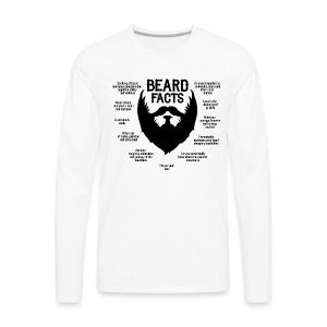 Beard Facts (black) - Männer Premium Langarmshirt