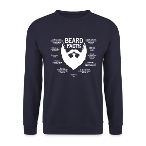 Beard Facts (white) - Männer Pullover