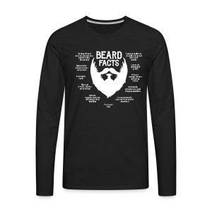 Beard Facts (white) - Männer Premium Langarmshirt