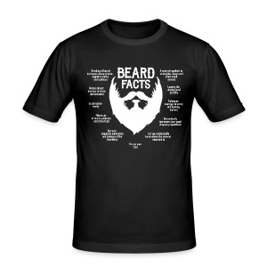 Beard Facts (white) - Männer Slim Fit T-Shirt