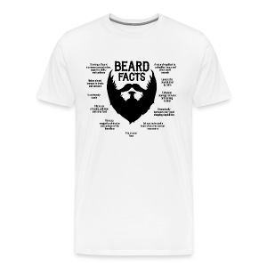 Beard Facts (black) - Männer Premium T-Shirt