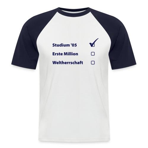 ABI Weltherrschaft - Männer Baseball-T-Shirt