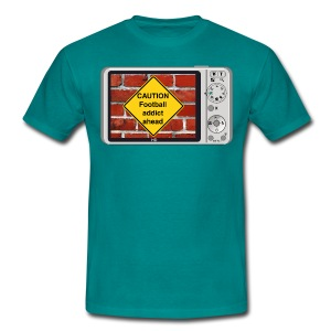 Caution sign t-shirt - Football - Men's T-Shirt