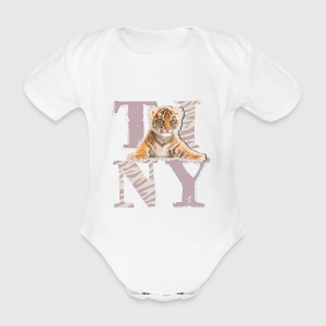 Animal Planet Tiny Tiger baby body - Kortærmet babybody, økologisk bomuld