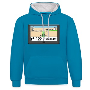 Political GPS hoodie - Capitalism - Contrast Colour Hoodie