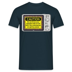 Caution sign t-shirt - Smoking - Men's T-Shirt
