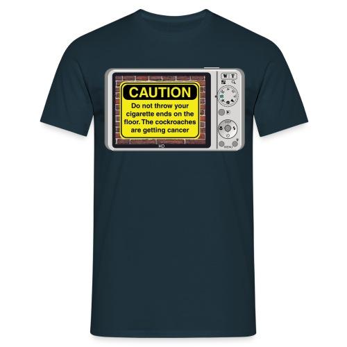 Caution sign t-shirt - Smoking - Men's T-Shirt