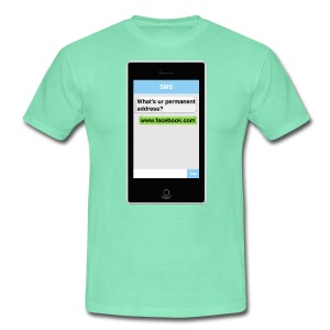 SMS t-shirt - Address - Men's T-Shirt