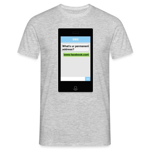 SMS t-shirt - Address - Men's T-Shirt