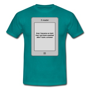 E-book title t-shirt - Bald - Men's T-Shirt