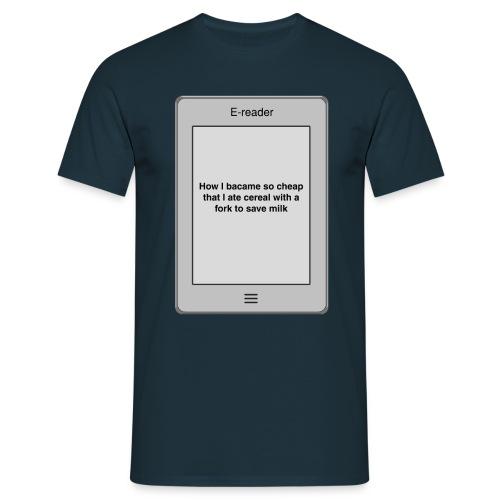 E-book title t-shirt - Cheap - Men's T-Shirt