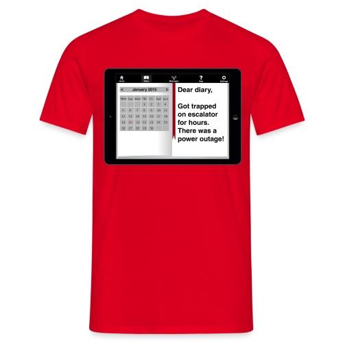 E-diary t-shirt - Escalator - Men's T-Shirt