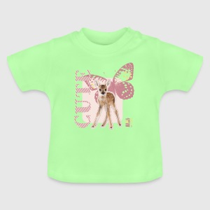 Animal Planet Cute rådyr med sommerfugl baby T-Sh - Baby T-shirt