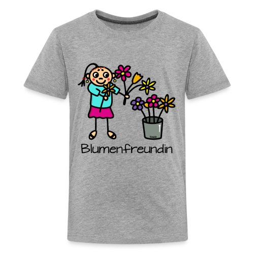 Blumenfreundin - Teenager Premium T-Shirt