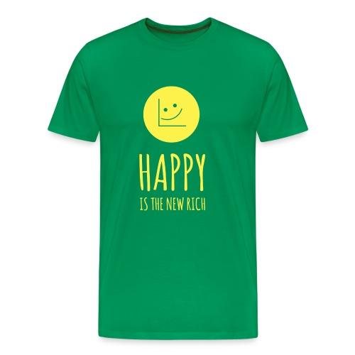 Happy Is The New Rich T-shirt - Men's Premium T-Shirt