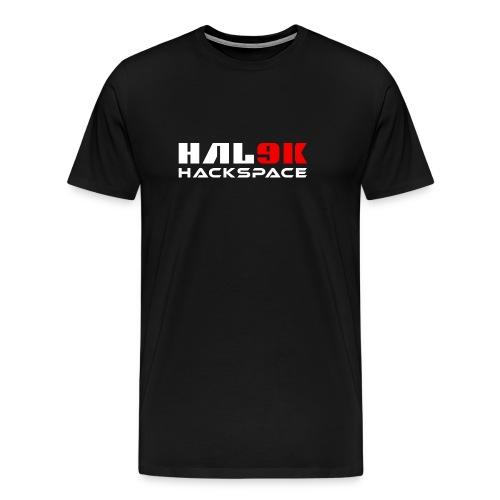 Mørk herre T-shirt, hackspace-logo - Herre premium T-shirt