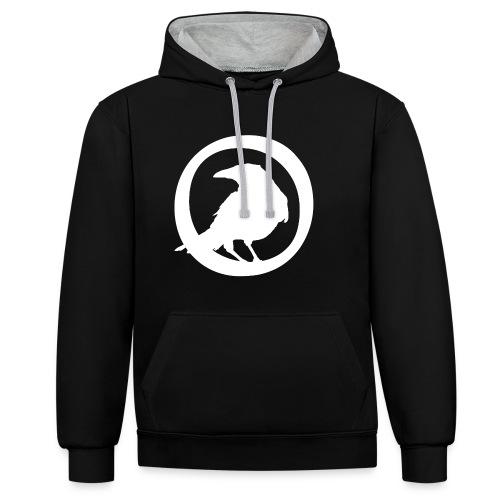 Crowfall Emblem Pullover Hoodie BLACK/GREY - Kontrast-Hoodie