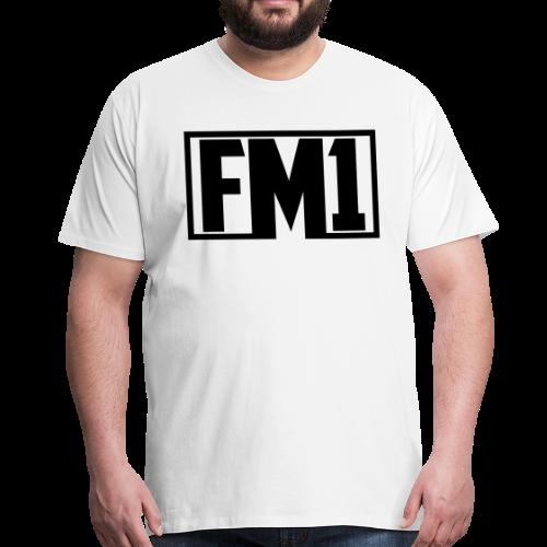 FM1 logo  - Herre premium T-shirt