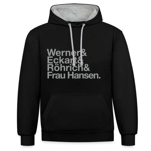 Werner & Eckart Hoody schwarz/grau - Kontrast-Hoodie