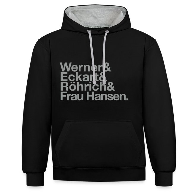 Werner & Eckart Hoody schwarz/grau