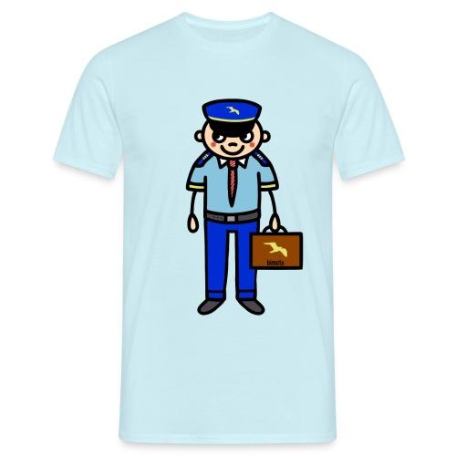 Pilot in Uniform - Männer T-Shirt