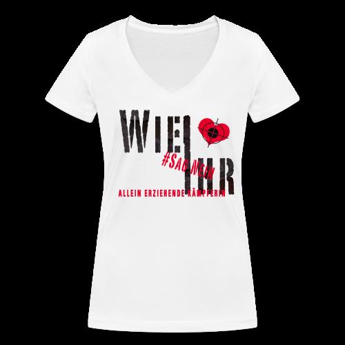 Allein erziehende Kämpferin - Frauen Bio-T-Shirt mit V-Ausschnitt von Stanley & Stella