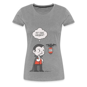 Veganer Vampir - Frauen Premium T-Shirt