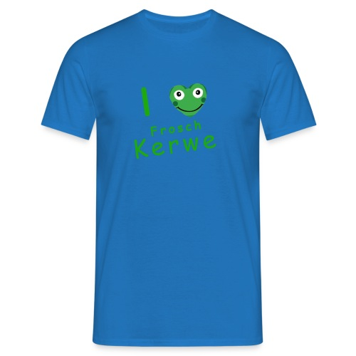 I Love Froschkerwe Männer /grüne Schrift - Männer T-Shirt