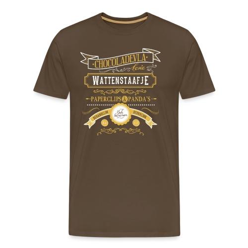 Wattenstaafje mannen premium - Mannen Premium T-shirt
