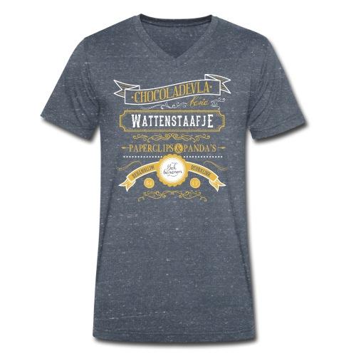 Wattenstaafje mannen v-hals bio - Mannen bio T-shirt met V-hals van Stanley & Stella