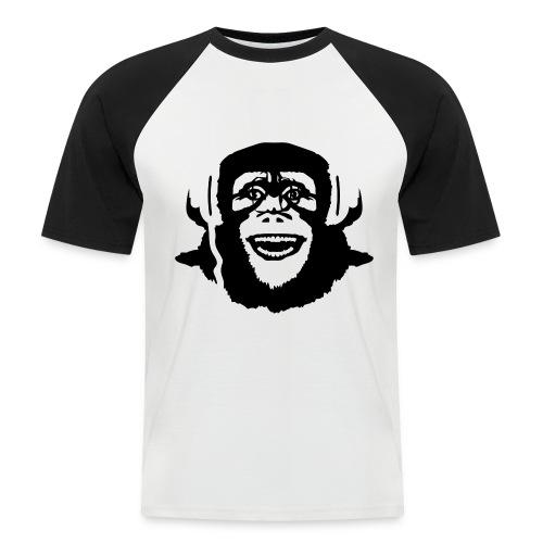 crazy monkey - Kortermet baseball skjorte for menn