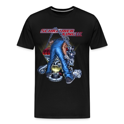 Rahmenlos JL Schrauberking - Design Geschenk - Männer Premium T-Shirt
